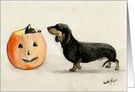 Halloween Invitation Dachshund card