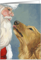 Christmas Golden Retriever card