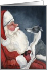 Christmas Italian Greyhound card