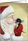 Christmas Kiss Santa Chihuahua card