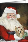 Christmas Yorkshire Terrier card