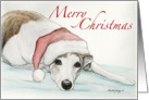 Christmas Greyhound card