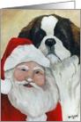 Christmas saint Bernard card