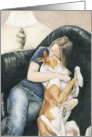 Ibizan Hound Cuddle Get Well card