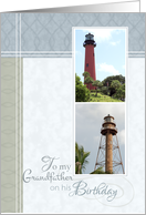 Lighthouses- Birthday for Grandfather card