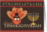 Happy Thanksgivukkah-Silly Turkey & Menorah card