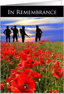 Australia Armed Forces Day- Soldiers in Poppy Field card
