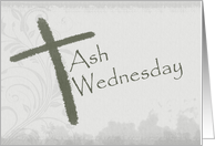 Ash Wednesday - Charcoal Look card