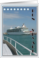 Bon Voyage-Cruise Ship card