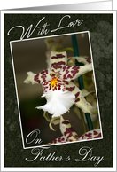 With Love on Father's Day, for Boyfriend- Orchid card