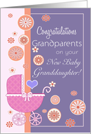 Congratulations Grandparents on your new Baby Granddaughter card