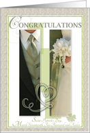 Saint Patrick's Day 2012 Wedding Congratulations card