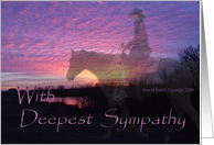 Sympathy Brother Horse in Sunset card