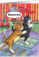 Pilates Yoga Birthday Cats (Bud & Tony) card