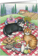 Cats Mother's Day Picnic (Bud & Tony) card
