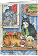 Cats Traditional Father's Day (Bud & Tony) card