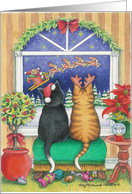 Cats Christmas Eve (Bud & Tony) card