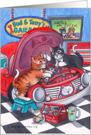 Auto Mechanic Cats Birthday (Bud & Tony) card