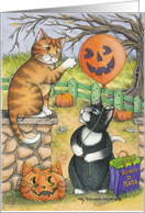 Halloween Scaredy Cats Invitation (Bud & Tony) card