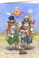 SteamPunk Birthday Cats(Bud & Tony) card