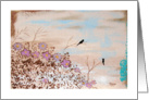 Friends, Missing You, Birdies on Branches, Abstract Art Painting card