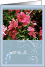 Will You Be My Bridesmaid? - Request Invitation card