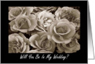 Will You Be In My Wedding? - Request Invitation card