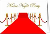 Red Carpet Movie Night Party card