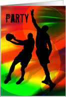 Basketball Duo in Bright Court Lights Invitation card