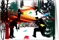 Winter Paintball in the Woods Invitation card
