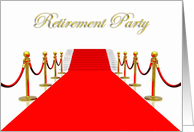 Retirement Party Invitation with Red Carpet and Stairs card