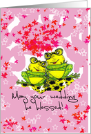 May your wedding be blessed! card
