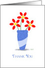 Thank You : Three Red Flowers card
