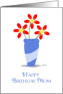 Happy Birthday Mom: Sunflower in a Vase card