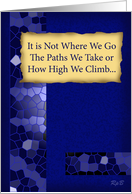 How High We Climb - Blue card