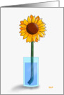 Sunflower in a Vase card