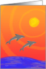 Anniversary: Dolphin Sunset card