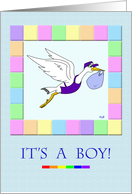 Gay Parents: Stork Delivery Service It's a Boy card