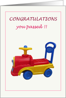 Congratulations On Passing Driving Exam card