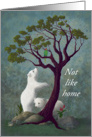 Not Like Home Miss You - Polar Bear Cubs In Tropical Environment card