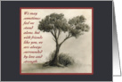 Cancer Patient or Family Thank You Friend - Tree Drawing card