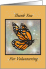 Volunteer Thank You - Glowing Butterfly card