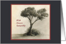 With Sincere Sympathy - Tree Drawing card