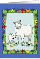 Congratulations New Parents - Sheep Art card
