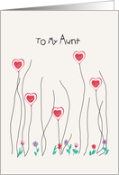 Valentine's Day Card for Aunt with Hearts and Flowers card