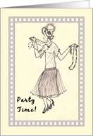 Dyngus Day with Hand Drawn Charleston Party Girl card