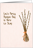 Dyngus Day with Pussy Willows card