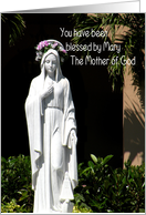 Birthday, Blessed Mary Statue, Female Clergy card