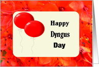 Dyngus Day, Red Balloons and Flowers card