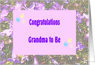 Congratulations Grandma to Be, Lavender Flowers, Balloons card